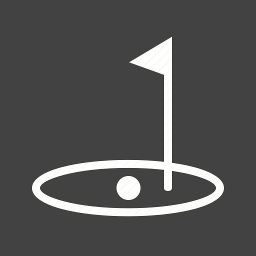 Ball, flag, goal, golf, stick icon - Download on Iconfinder