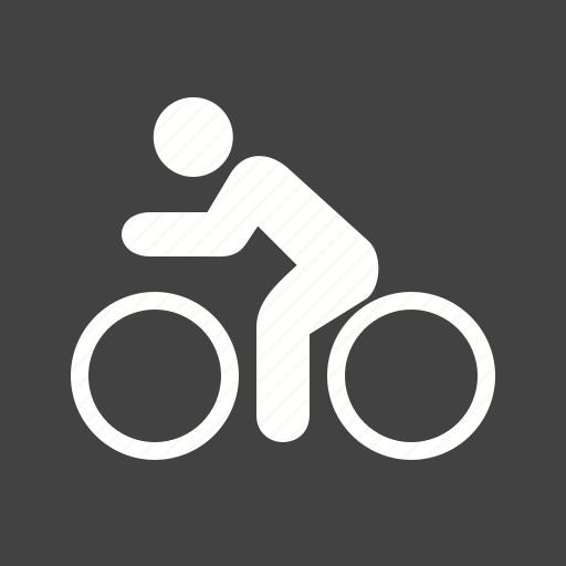 cycling, person, riding, wheels icon