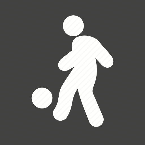 football, goal, player, running icon