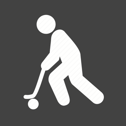 ball, hockey, player, stick icon