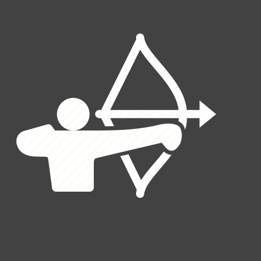 archer, arrow, person, target icon