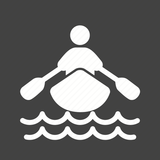 boat, person, rowing, water icon