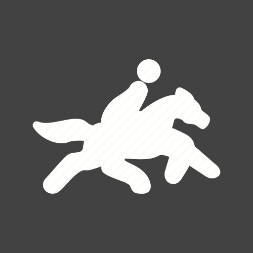 horse, person, rider, running icon
