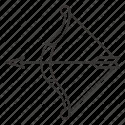 archery, arrow, bow, bullseye, target icon
