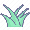 flower, grass, plant icon