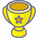 achievement, awards, trophy, win, winner icon