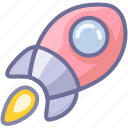 launch, missile, rocket, spacecraft, spaceship, startup icon