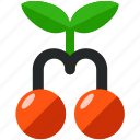 cherries, fruit, games, gaming, reward icon