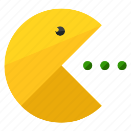 eat, entertainment, fun, games, gaming, pacman icon