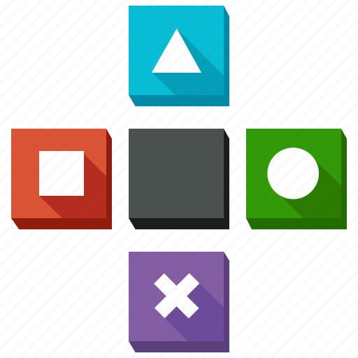 circle, controls, games, gaming, shape, shapes, triangle icon