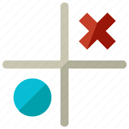 circle, cross, entertainment, games, tac, tic, toe icon