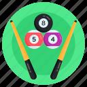 billiard, billiard balls, snooker, pool game, pool balls icon