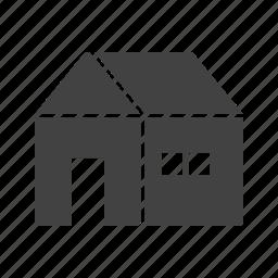 decoration, house, season, snow, winter, wood, year icon