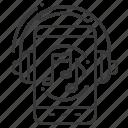 audio, headphones, mobile app, online music icon