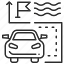 car, direction, finish, way icon