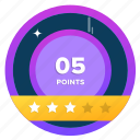 award, badge, challenge, goal, point, points, target