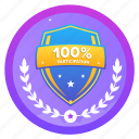 100percentage, award, badge, challenge, participation, shield