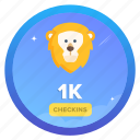 award, badge, challenge, checkin, checkins, lion, social icon