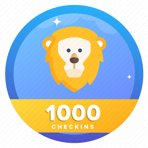 award, badge, challenge, check, goal, lion, lion1 icon