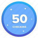 goal, badge, challenge, award, social, checkins