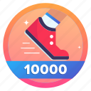 award, badge, challenge, foot, running, social, steps