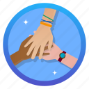 badge, friends, hands, hands1, shakhands, unity