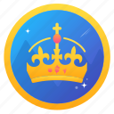 badge, challenge, crown, award, king