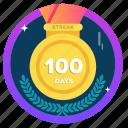award, badge, challenge, goal, social, streak