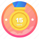 15d1, award, badge, challenge, goal, medal, social icon