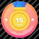 15d1, award, badge, challenge, goal, medal, social