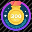 300days, award, challenge, goal, social, streak