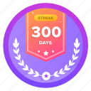 300d, challenge, goal, medal, social, streak
