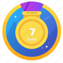 award, badge, badges, challenge, goal, social, streak