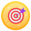 archery, arrow, challenge, goal, social, target icon
