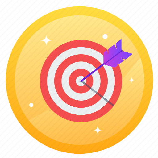archery, arrow, challenge, goal, social, target icon