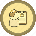 gamification, gold, hr, medal, paper table, recruiter icon