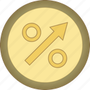 gamification, gold, growth, medal icon