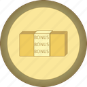 bonus, gamification, gold, medal icon