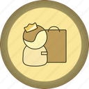 gamification, gold, medal, packet, seller icon