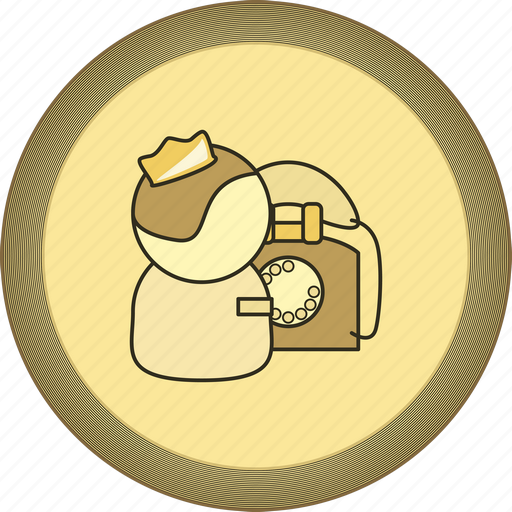 call, gamification, gold, medal, operator, phone icon
