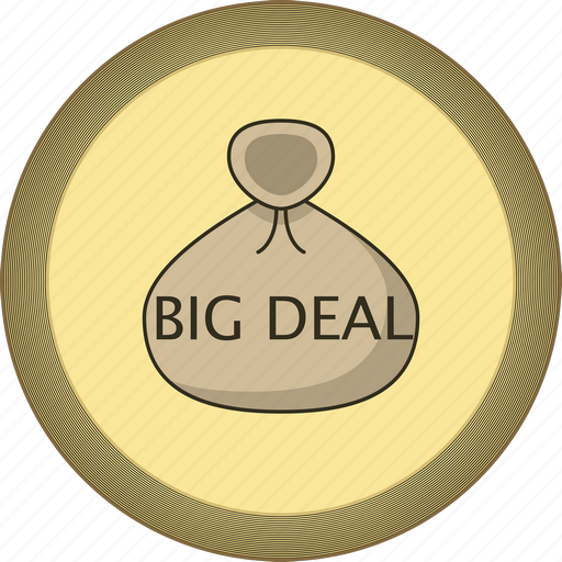 big, big deal, deal, gamification, gold, medal icon