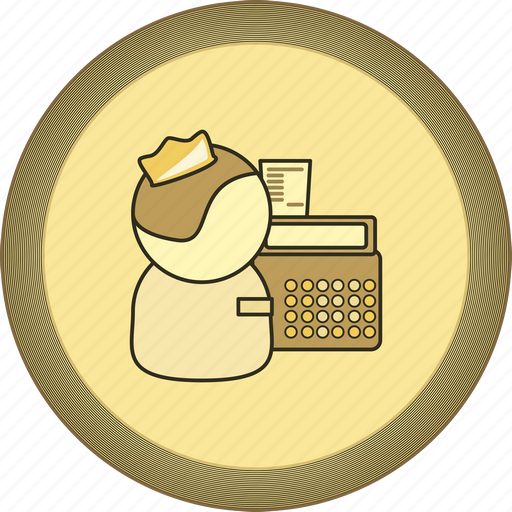 cashbox, cashier, gamification, gold, medal icon