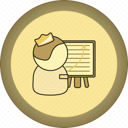 best coach, best trainer, flipchart, gamification, gold, medal, trainer icon