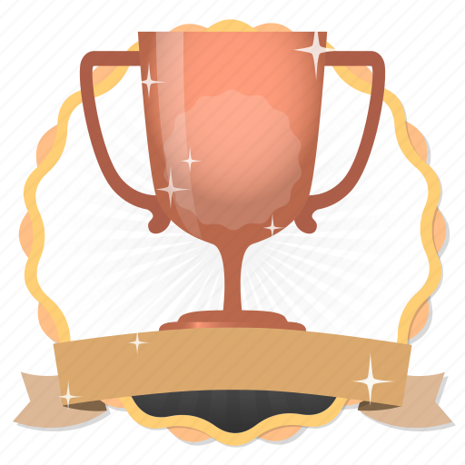 achievement, acknowledge, acknowledgement, award, badge, best, bronze, bronze cup, challenge, conquest, cup, game, gamification, hero, member, membership, praise, premium, prize, quality, rank, ranking, reward, star, subscription, third, trophy, victory, win, winner icon