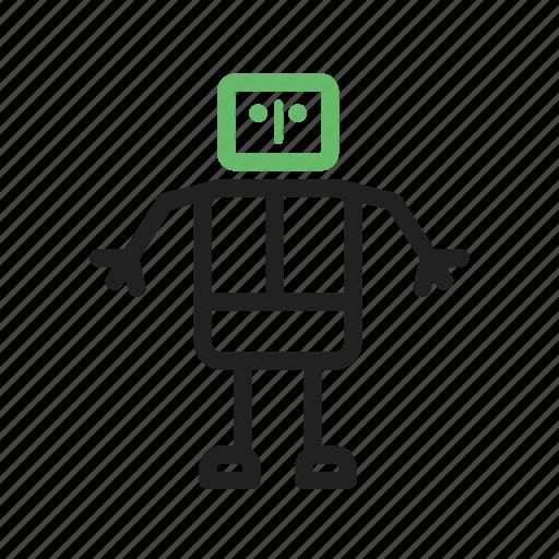 automatic, future, robot, robotic, technology icon