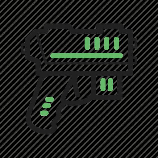 gun, pistol, plastic, play, ray, toy, water icon