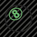 ball, balls, billiard, eight, eleven, pool, snooker, white icon