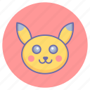cartoon character, game, pikachu, pokemon, pokemon game, pokemon head icon