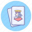 card game, diamond, hazard, king, king diamond, king of spades, playing cards icon