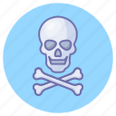 bones, danger, game, gaming, skull icon